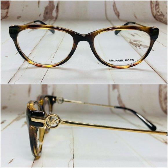 Michael Kors Cat Eye Tortoise Gold Eyeglasses NWOT